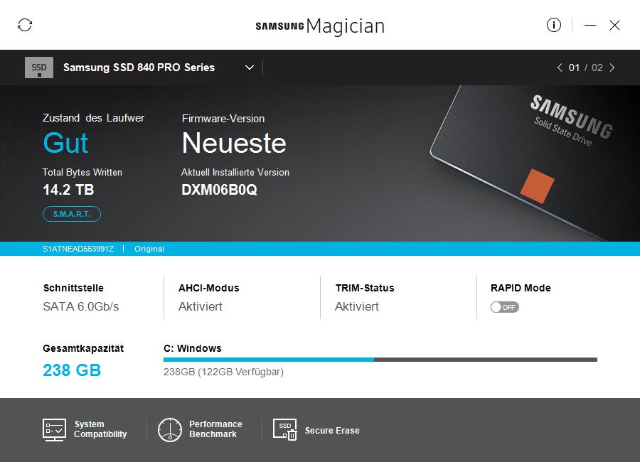 Samsung Magician 5.0