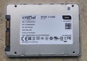 Crucial MX300 - Rückseite