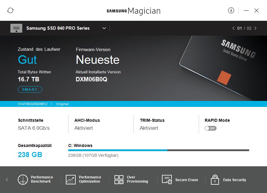 Samsung Magician 5.1.0